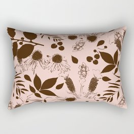 Botanical foliage neutral Rectangular Pillow