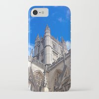downton abbey iPhone & iPod Cases featuring Bath Abbey by Casey J. Newman