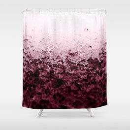 Burgundy CrYSTALS Ombre Gradient Shower Curtain