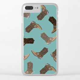 Cowboy Boots - pattern Clear iPhone Case