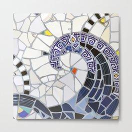 Blue Fandango Mosaic Metal Print