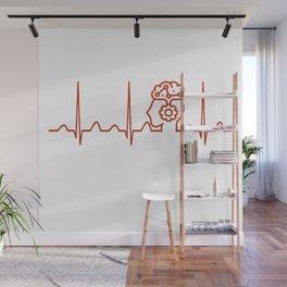 Psychiatrist Heartbeat Wall Mural