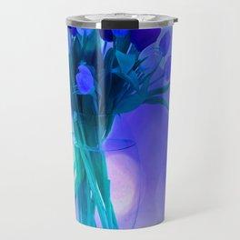 A Blue Bloom for Spring Travel Mug