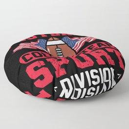 American Football  College Team Sport Division Floor Pillow