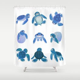 Baby sea turtles Shower Curtain