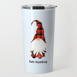 Bah Humbug, Funny Cute Gnome Travel Mug