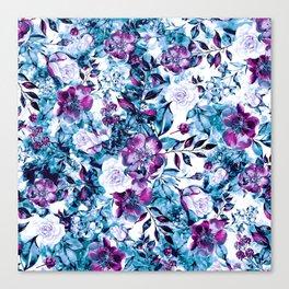 RPE FLORAL BLUE Canvas Print