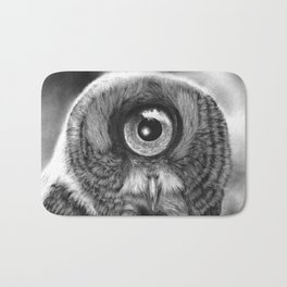 Evolution: Great Gray Owl Bath Mat
