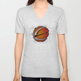 Anatomy of a Basketball. Unisex V-Neck
