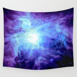 NEBula Purple Periwinkle Blue Wall Tapestry