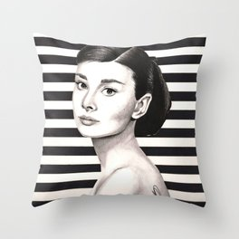 Classy Stripes Throw Pillow