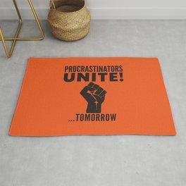Procrastinators Unite Tomorrow (Orange) Rug