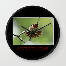Inspirational Attitude Wall Clock
