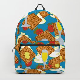 berries waffles and mimosas Backpack