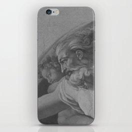 Black White Sistine Chapel iPhone Skin