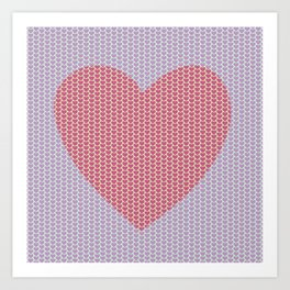 Heart Overload Valentine Issues Art Print