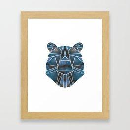 Geo Bear Framed Art Print