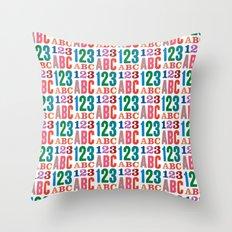 ABC 123 Throw Pillow