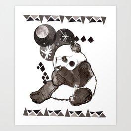 European Panda Art Print