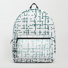 Blue Ombre Crossed Line Pattern Backpack