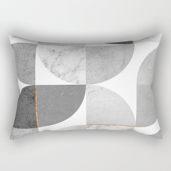 Marble Gray Copper Black and white circles by marilenaxiari