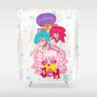 jem Shower Curtains featuring fanart Jem and the Holograms by Lady Love