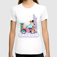 backpack T-shirts featuring SAIGON by Adam Moroncsik