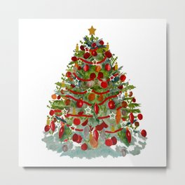 A Decorated Christmas Tree Metal Print