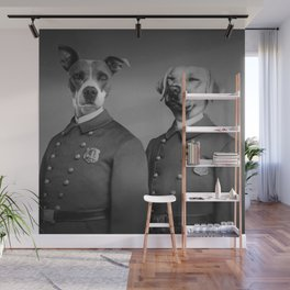 Crime Fighting Pooches Wall Mural