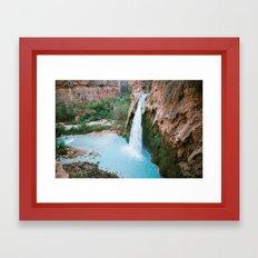 iconic havasupai falls Framed Art Print