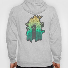 Silhouette gradient of a girl Hoody