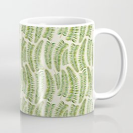 Palm leaves in tiger print Coffee Mug