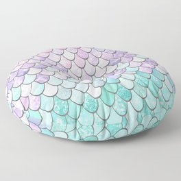 Girls Cute Mermaid Pattern, Pink, Purple, Teal Floor Pillow