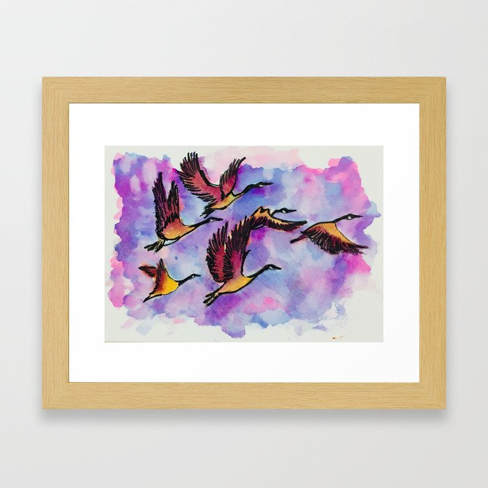 With Flying Colours Framed Art Print