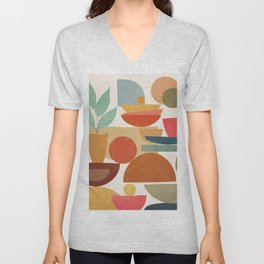 Modern Abstract Art 78 Unisex V-Neck