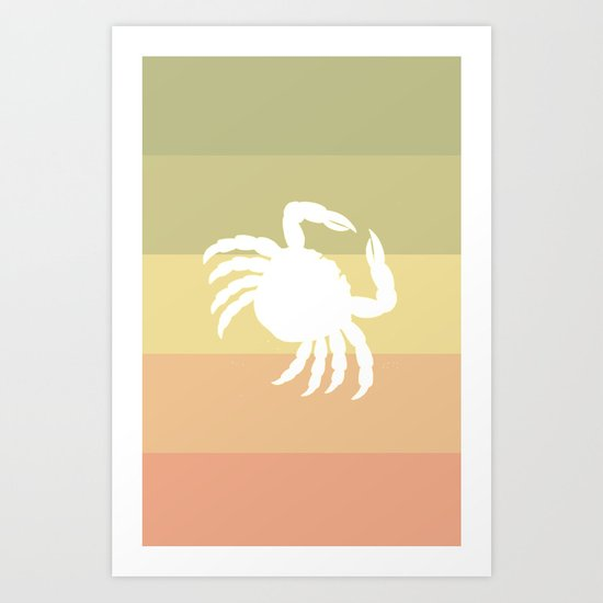 Out At Sea Series - Sideways and Crabby Art Print