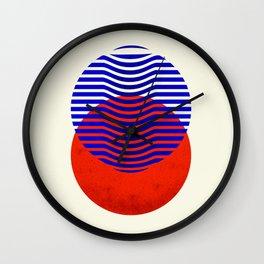 Graphic abstract circles Wall Clock