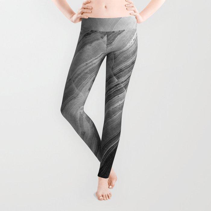 Shades of grey marble Leggings