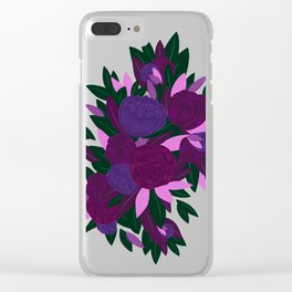 Ultra Violet Magnolias Clear iPhone Case