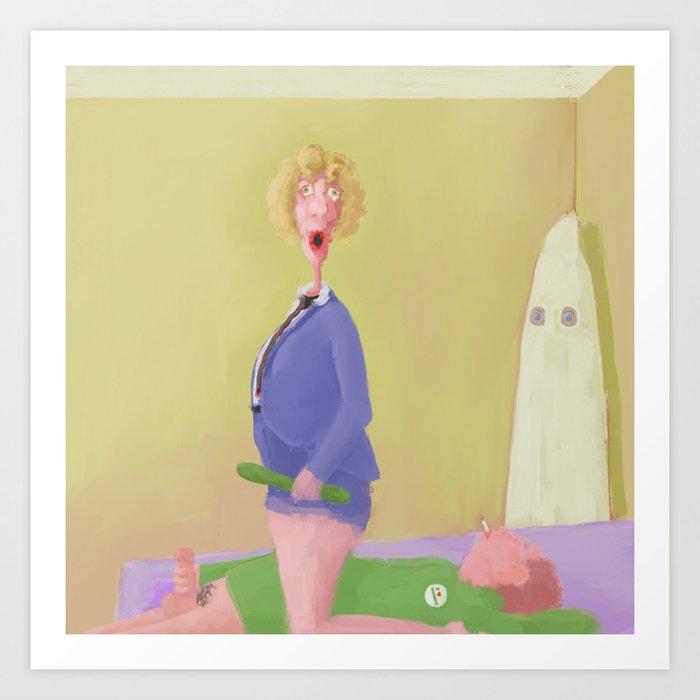 The Cucumber Club Art Print