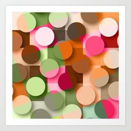 dots & squares Art Print