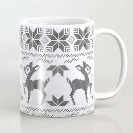 Christmas black and white, the embroidered pattern. Coffee Mug