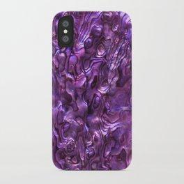 Abalone Shell | Paua Shell | Magenta Tint iPhone Case