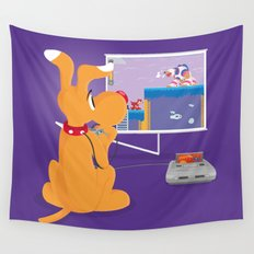 Robot Game Wall Tapestry