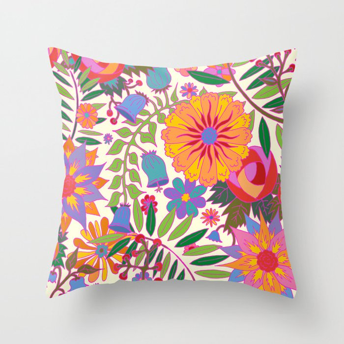 Just Flowers Lite Throw Pillow