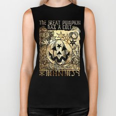 Cult of the Great Pumpkin: Sun, Moon and Angels Biker Tank