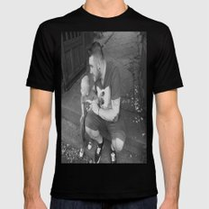 lou and daddy Black Mens Fitted Tee MEDIUM