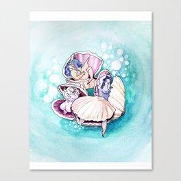 Sleepy Clams Canvas Print