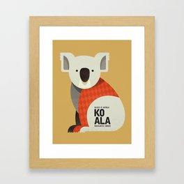 Hello Koala Framed Art Print