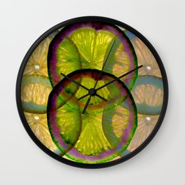 lemons pattern I Wall Clock